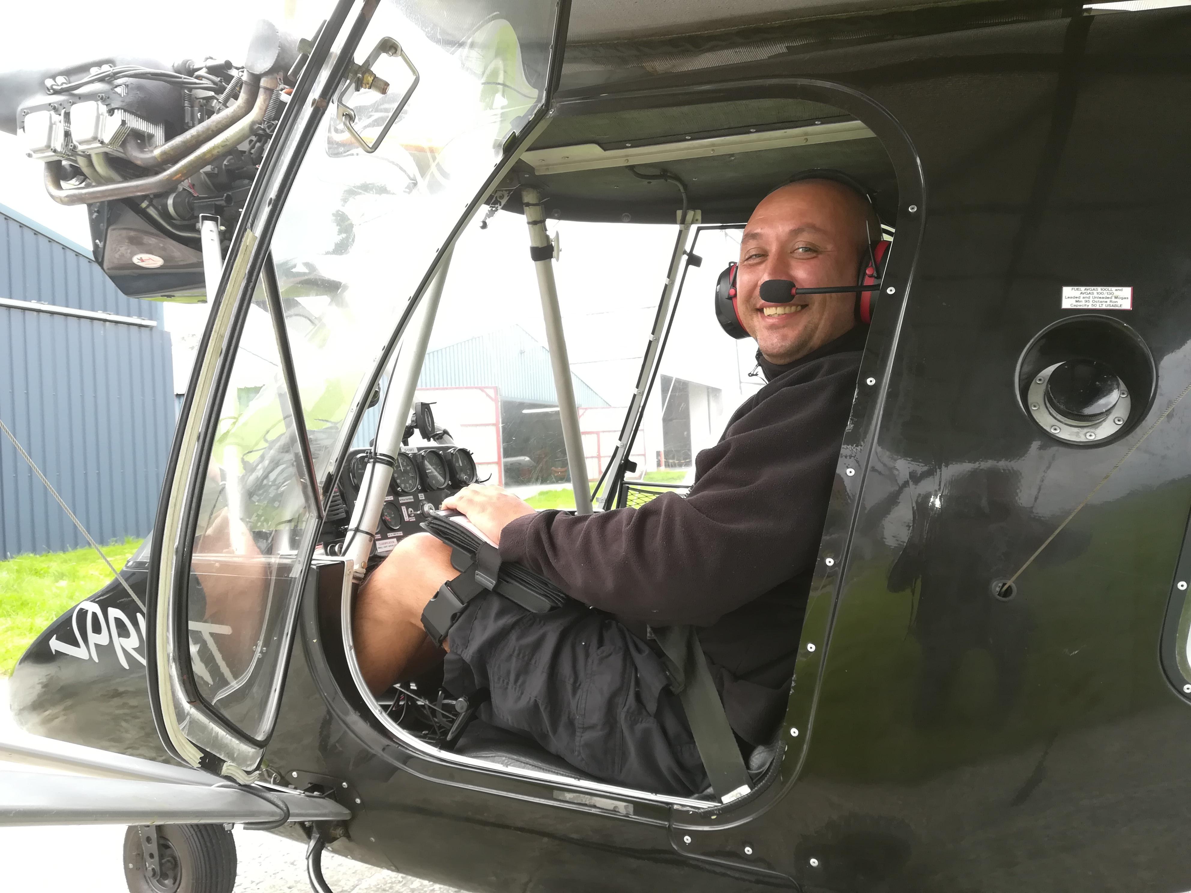 Dimitar Ivanov. First Solo Flight