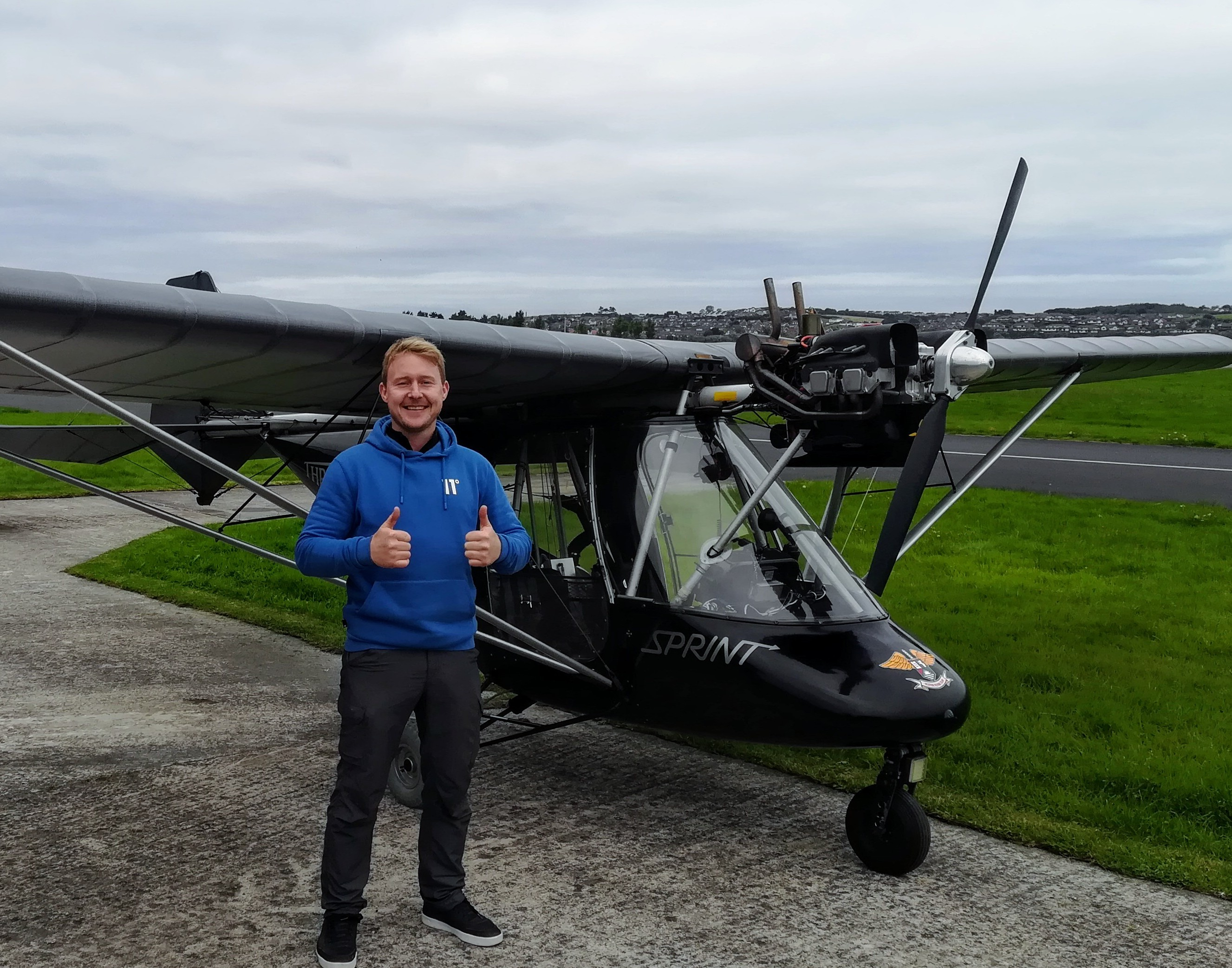 David McGuire Now licenced to fly in Ireland